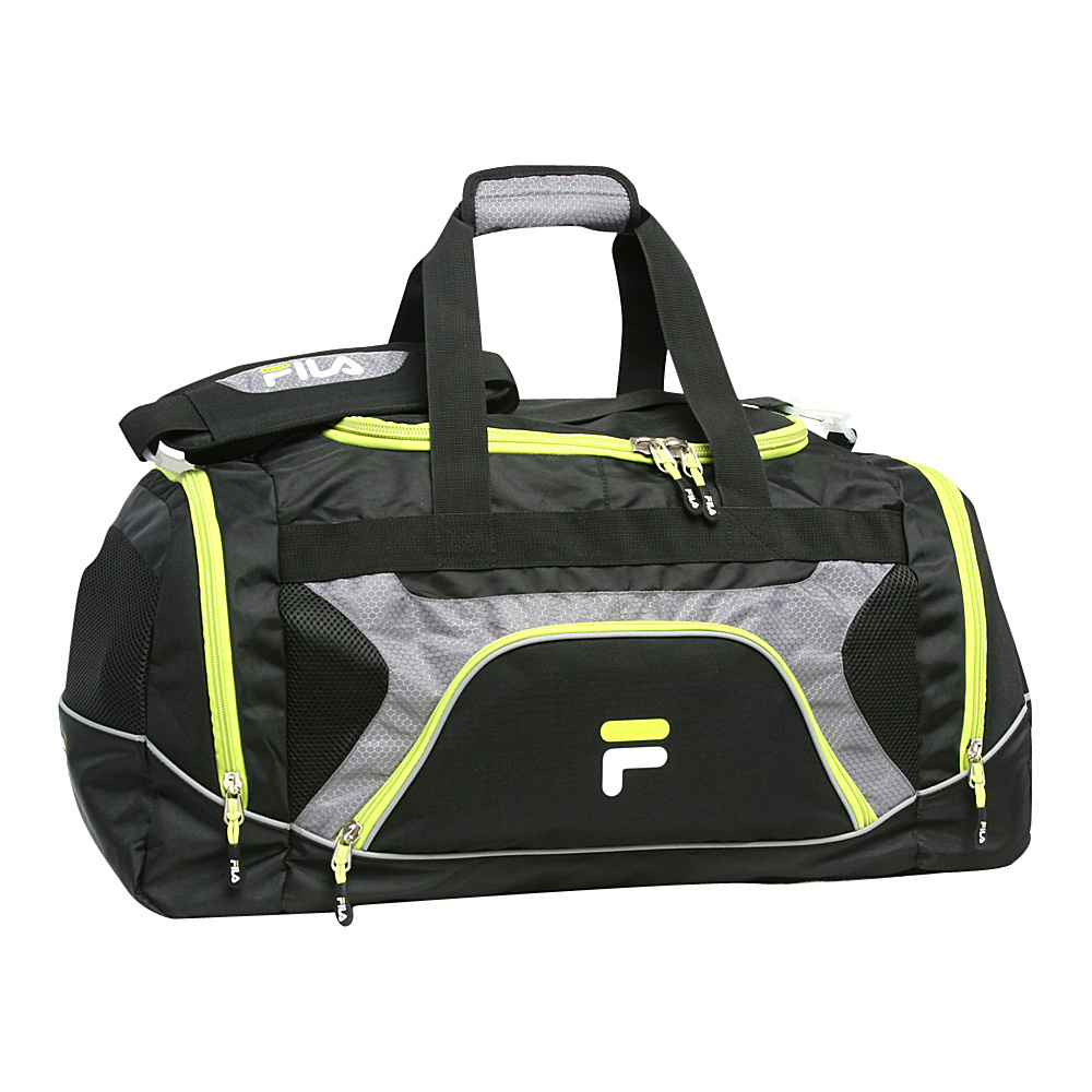 Fila Donlon Large Gym Duffel Bag Neon Lime Fila Gym Duffels