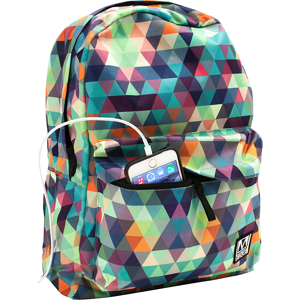 M Edge Graffiti Pack with Battery Multi Triangle M Edge Everyday Backpacks