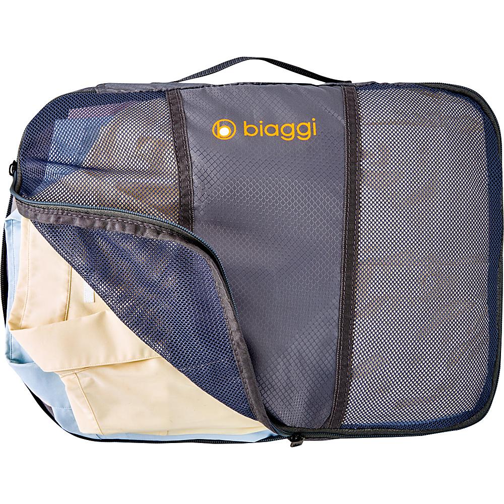 biaggi ZipCubes Packing Cubes Plus Shoe Bag/Laundry Bag,  Large Grey - biaggi Travel Organizers