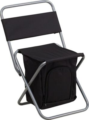 Flash Furniture Kids Folding Camping Chair with Insulated Storage Black - Flash Furniture Outdoor Accessories 10463277