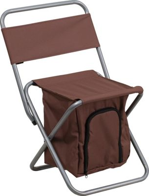 Flash Furniture Kids Folding Camping Chair with Insulated Storage Brown - Flash Furniture Outdoor Accessories