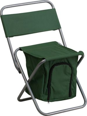 Flash Furniture Kids Folding Camping Chair with Insulated Storage Green - Flash Furniture Outdoor Accessories