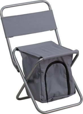 Flash Furniture Kids Folding Camping Chair with Insulated Storage Gray - Flash Furniture Outdoor Accessories