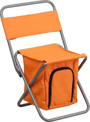 Flash Furniture Kids Folding Camping Chair with Insulated Storage Orange - Flash Furniture Outdoor Accessories