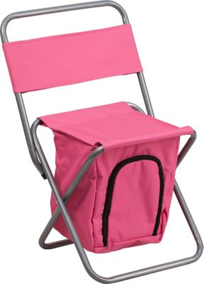 Flash Furniture Kids Folding Camping Chair with Insulated Storage Pink - Flash Furniture Outdoor Accessories