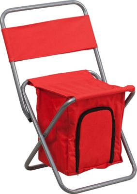 Flash Furniture Kids Folding Camping Chair with Insulated Storage Red - Flash Furniture Outdoor Accessories