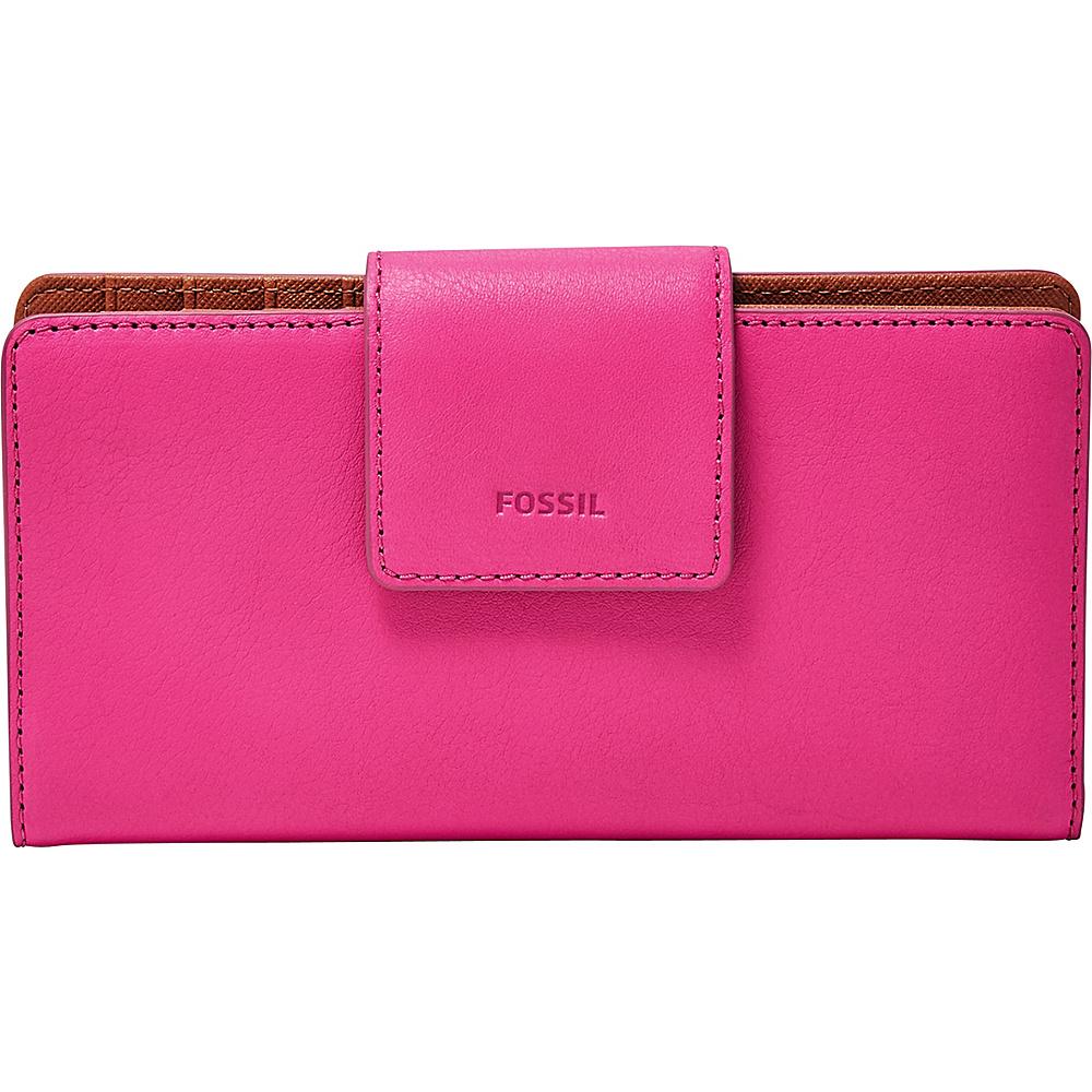 Fossil Emma RFID Tab Clutch Hot Pink - Fossil Womens Wallets - Women's SLG, Women's Wallets