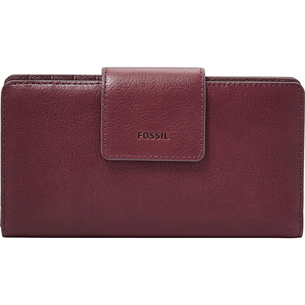 Fossil Emma RFID Tab Clutch Cabernet - Fossil Womens Wallets - Women's SLG, Women's Wallets