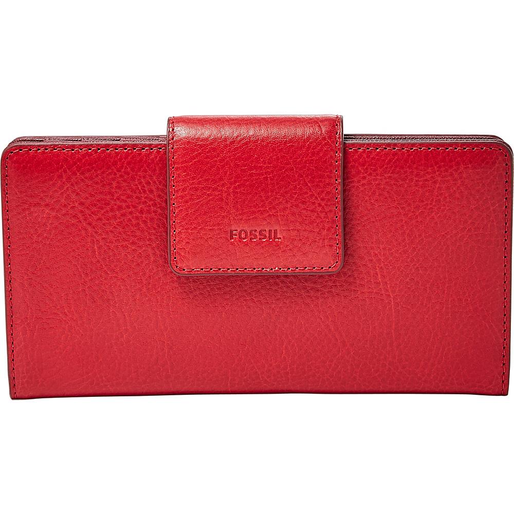 Fossil Emma RFID Tab Clutch Red Velvet - Fossil Womens Wallets - Women's SLG, Women's Wallets