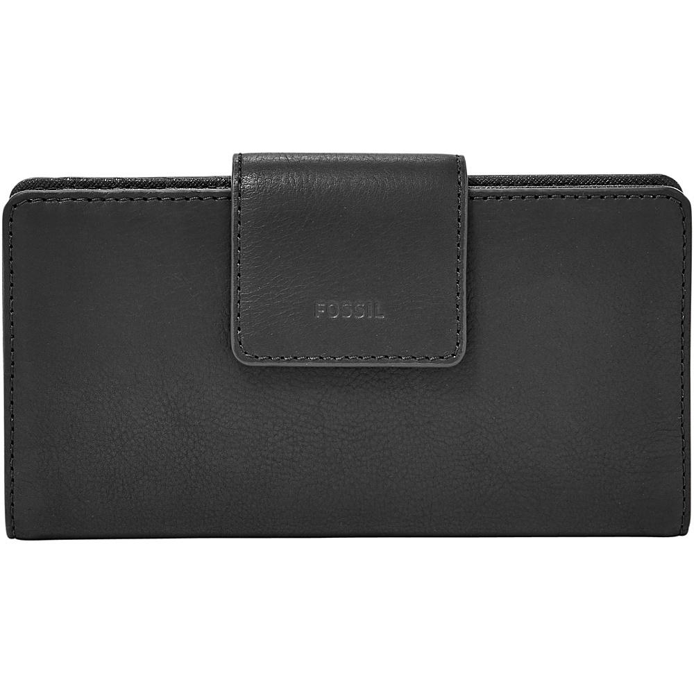 Fossil Emma RFID Tab Clutch Black - Fossil Designer Handbags - Handbags, Designer Handbags
