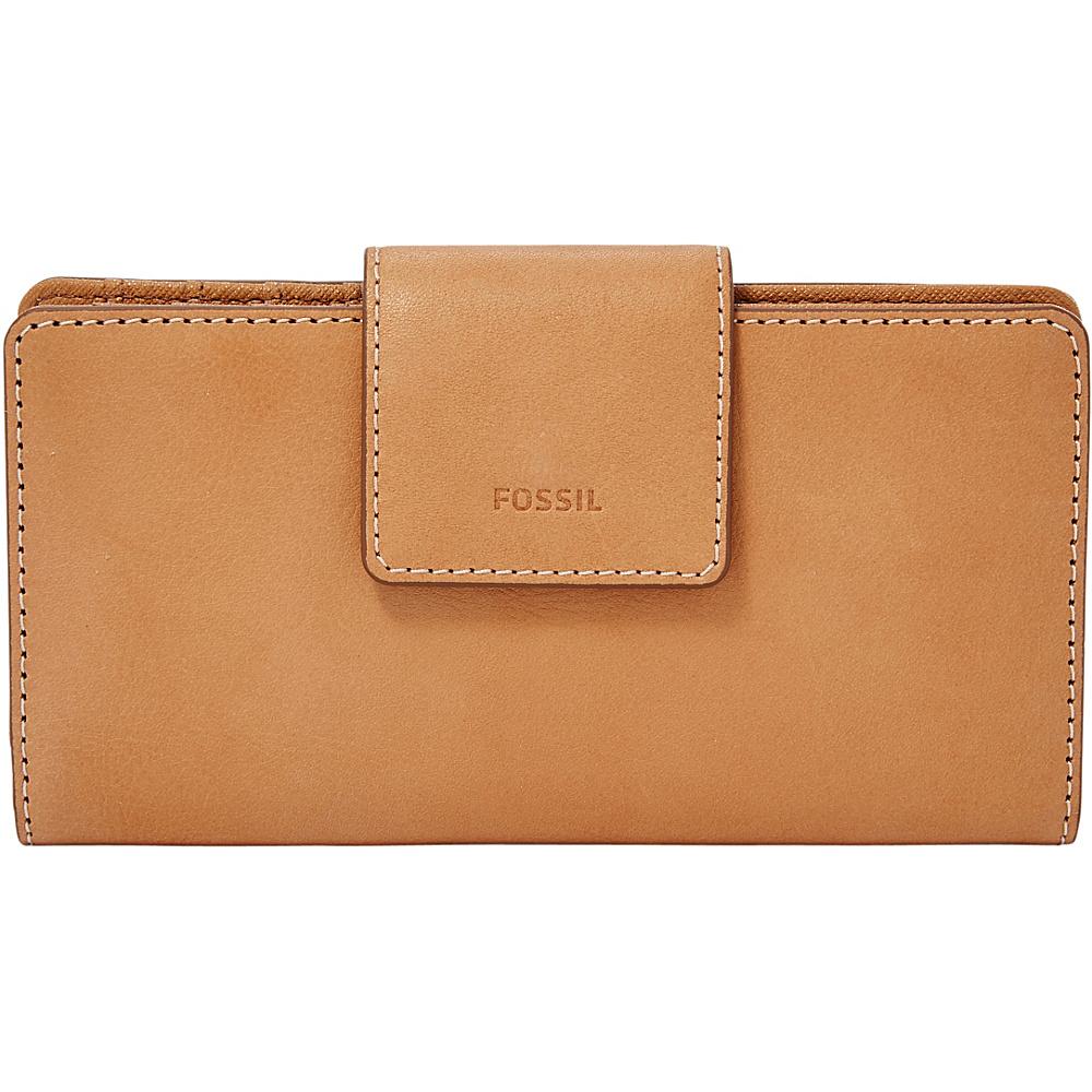 Fossil Emma RFID Tab Clutch Tan - Fossil Designer Handbags - Handbags, Designer Handbags