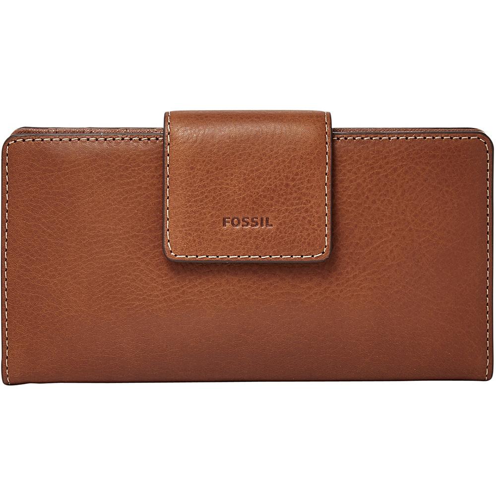 Fossil Emma RFID Tab Clutch Brown - Fossil Designer Handbags - Handbags, Designer Handbags