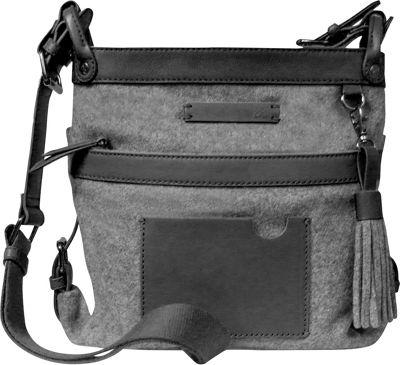 Sherpani Luna Wool Crossbody Slate - Sherpani Fabric Handbags