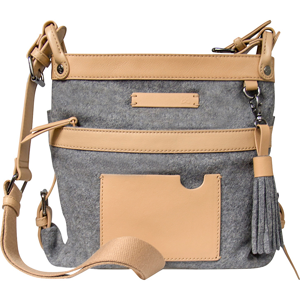 Sherpani Luna Crossbody Boiled Wool Chai Sherpani Fabric Handbags