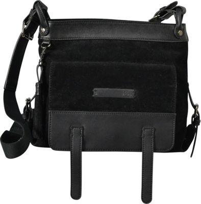 Sherpani Willow PU Suede Everyday Crossbody Black - Sherpani Manmade Handbags