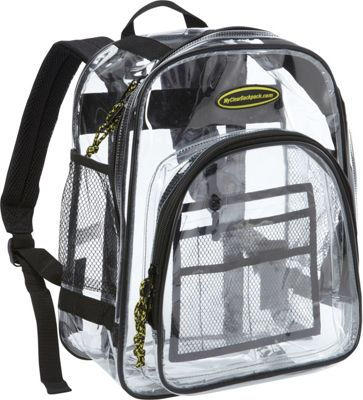 My Clear Backpack Middle Backpack Clear - My Clear Backpack Everyday Backpacks