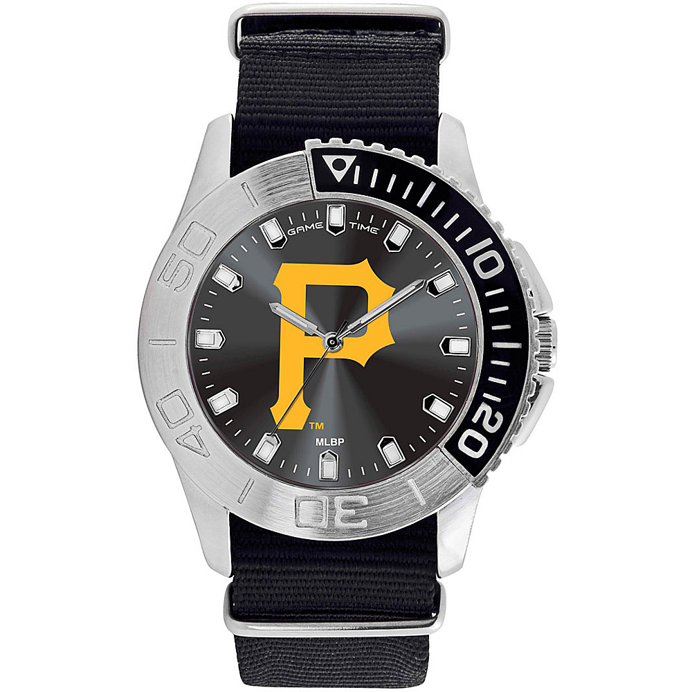 Game Time Mens Starter-MLB Watch Pittsburgh Pirates P Logo - Game Time Watches - Fashion Accessories, Watches
