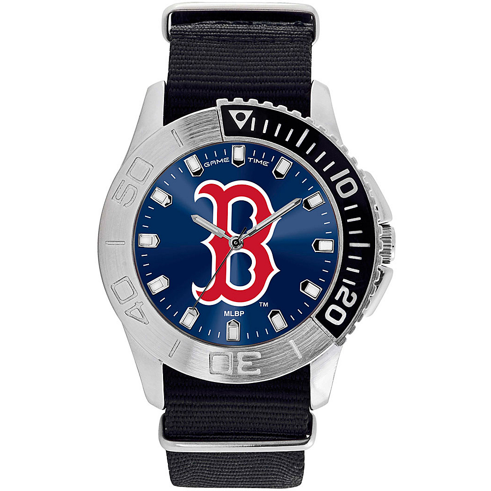 Game Time Mens Starter-MLB Watch Boston Red Sox B Logo - Game Time Watches - Fashion Accessories, Watches