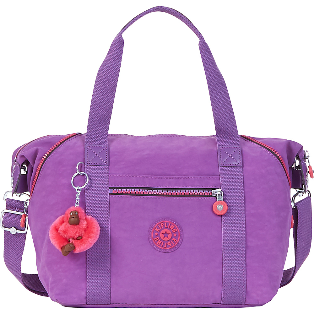 Kipling Art U Tote Violet Purple - Kipling Fabric Handbags
