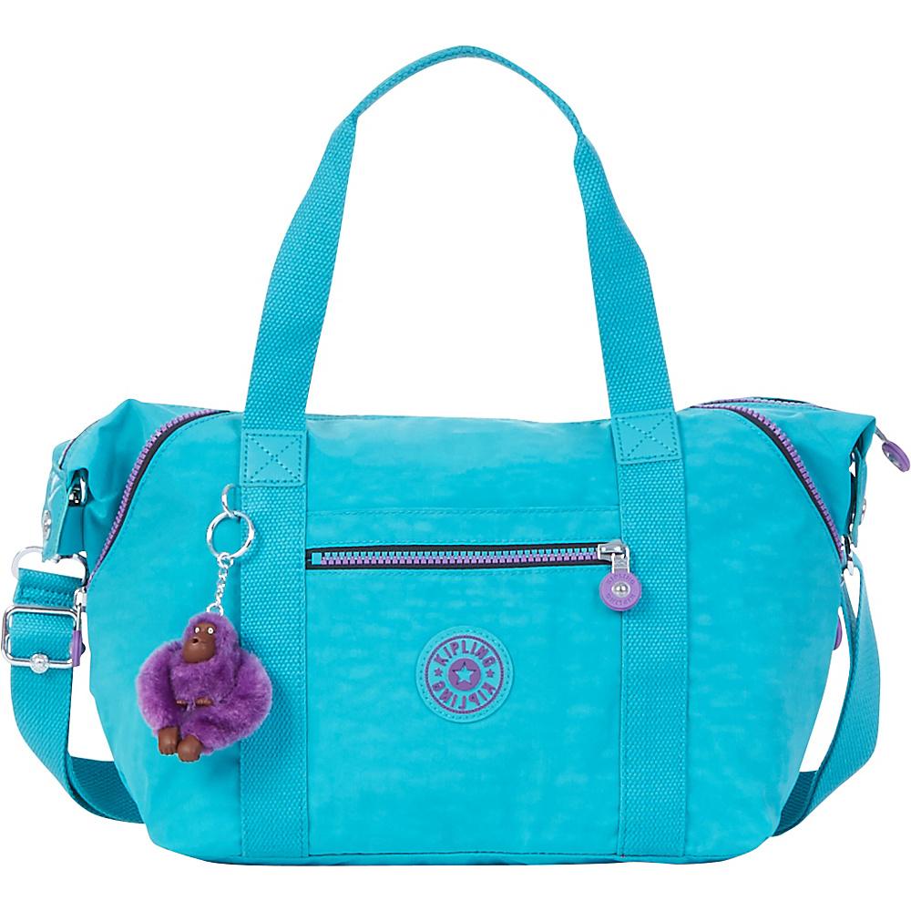Kipling Art U Tote Cool Turquoise - Kipling Fabric Handbags