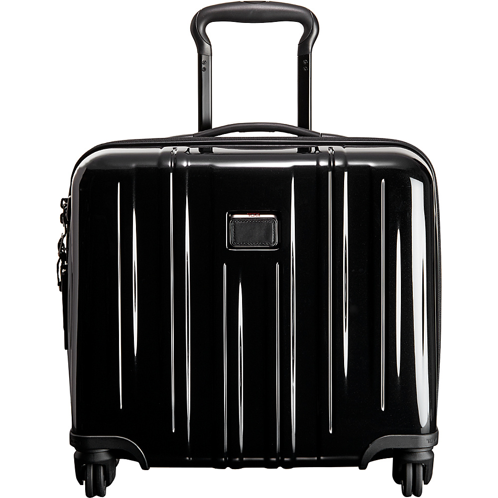 Tumi V3 Compact Carry On 4 Wheeled Briefcase Black - Tumi Wheeled Business Cases - Work Bags & Briefcases, Wheeled Business Cases
