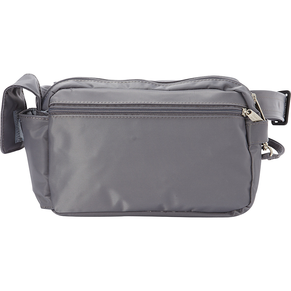 BeSafe by DayMakers RFID 3 Way Convertible Hiker Waistpack LX Pewter BeSafe by DayMakers Waist Packs