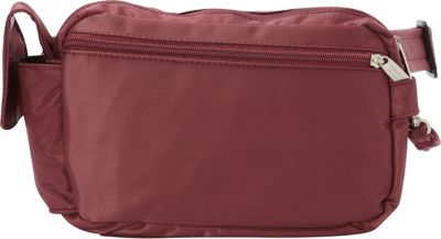 BeSafe by DayMakers RFID 3-Way Convertible Hiker Waistpack LX Wine - BeSafe by DayMakers Waist Packs