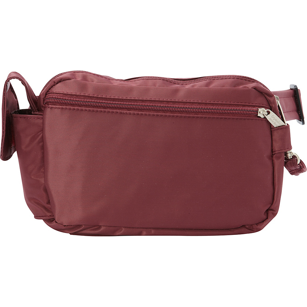 BeSafe by DayMakers RFID 3 Way Convertible Hiker Waistpack LX Wine BeSafe by DayMakers Waist Packs