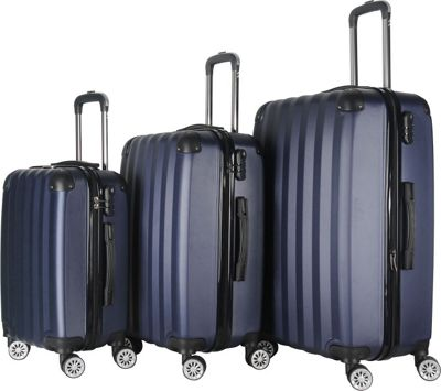 Brio Luggage Brio Luggage Hardside Spinner Luggage Set #1331 Navy - Brio Luggage Luggage Sets