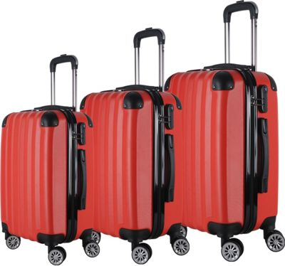Brio Luggage Brio Luggage Hardside Spinner Luggage Set #1331 Red - Brio Luggage Luggage Sets