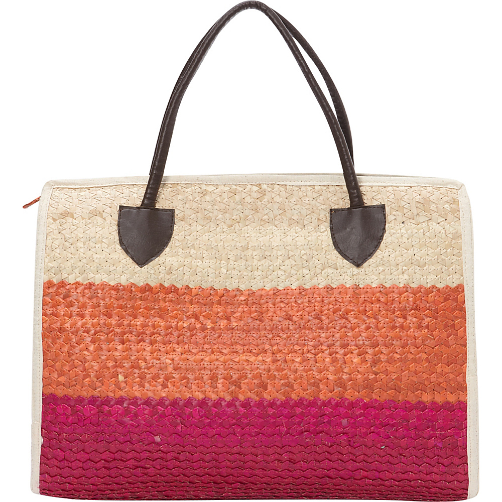 TLC you Balboa Large Tote Multi Pink Orange Natural TLC you Fabric Handbags