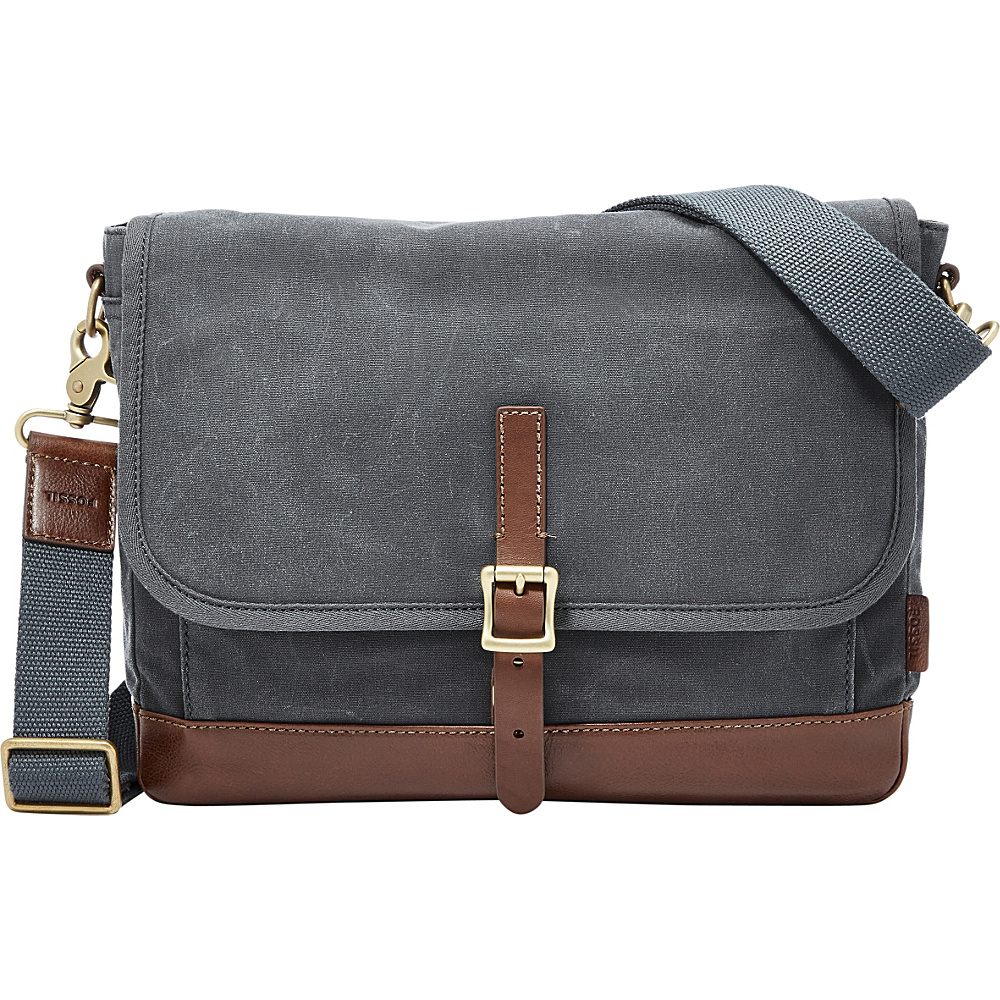 Fossil Defender East West City Shoulder Bag Grey - Fossil Messenger Bags - Work Bags & Briefcases, Messenger Bags