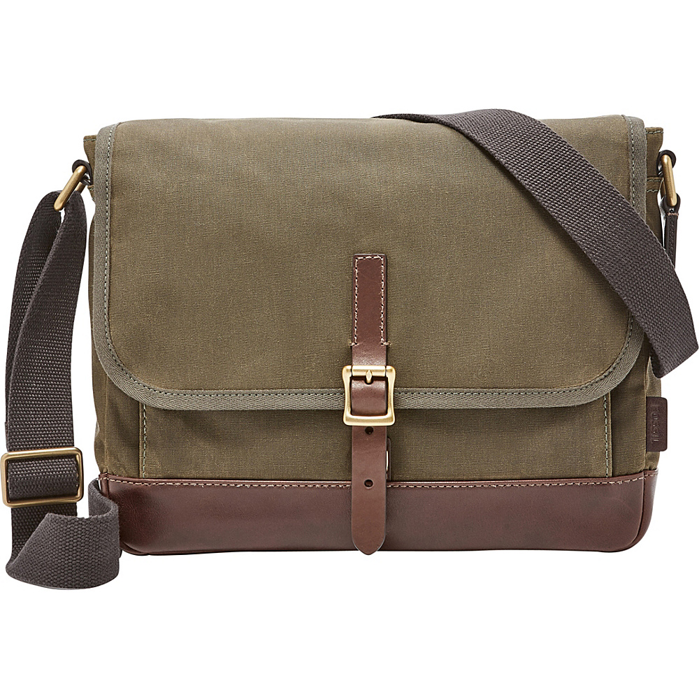 Fossil Defender East West City Shoulder Bag Green - Fossil Messenger Bags - Work Bags & Briefcases, Messenger Bags