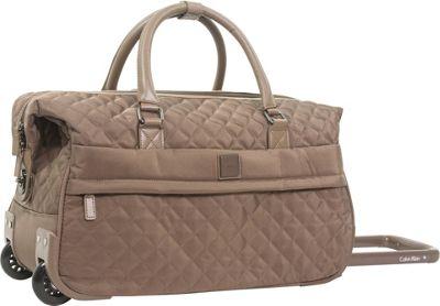 Calvin Klein Luggage Hawthorne 19 Wheeled Duffel Truffle - Calvin Klein Luggage Softside Checked