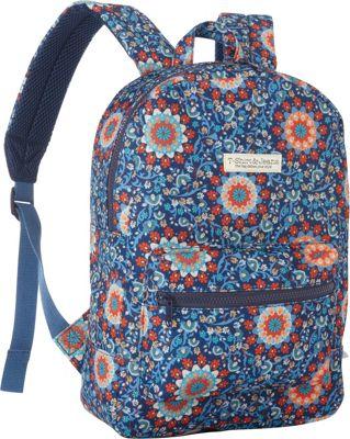 T-shirt & Jeans Blue Swirl School Backpack Blue Swirl - T-shirt & Jeans Everyday Backpacks
