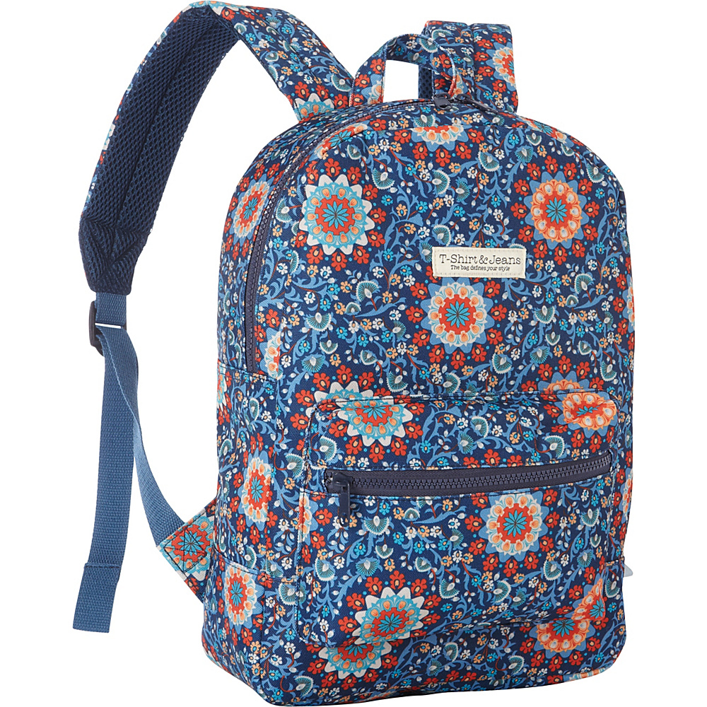 T shirt Jeans Blue Swirl School Backpack Blue Swirl T shirt Jeans Everyday Backpacks