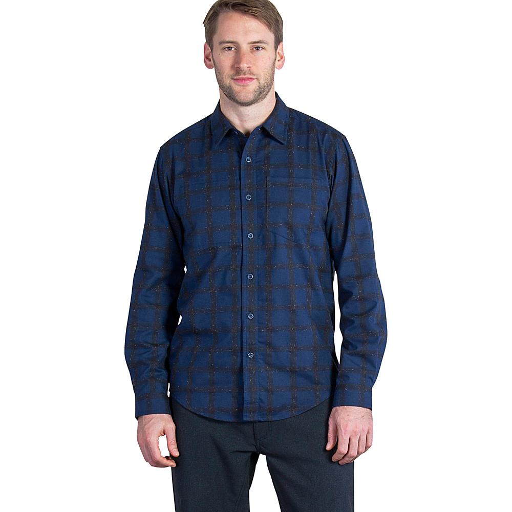 ExOfficio Mens Calator Plaid Long Sleeve Shirt XL - Navy - ExOfficio Mens Apparel - Apparel & Footwear, Men's Apparel
