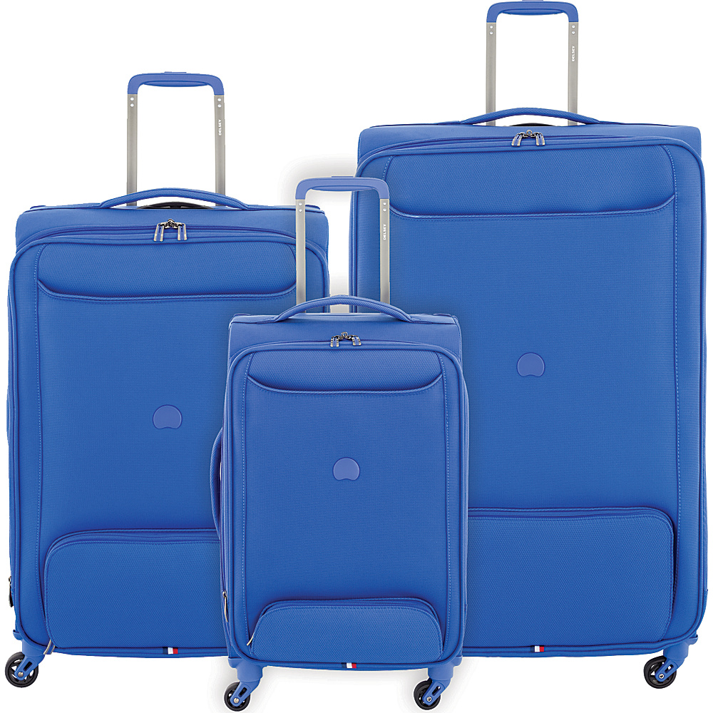 delsey chatillon 3 piece lightweight spinner luggage luggage set new ebay. Black Bedroom Furniture Sets. Home Design Ideas