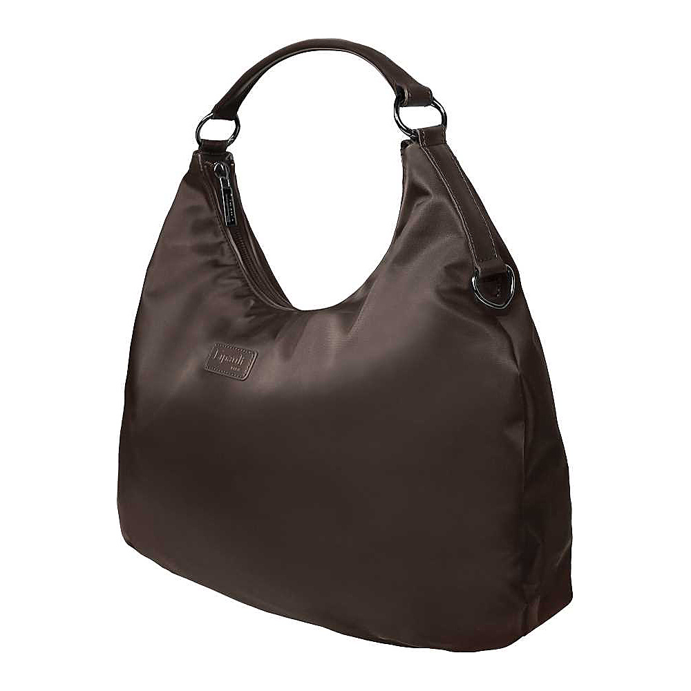 Lipault Paris Hobo Bag M Chocolate Lipault Paris Fabric Handbags