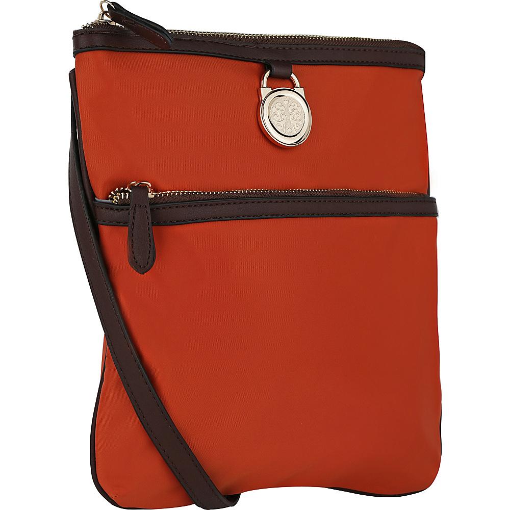 MKF Collection by Mia K. Farrow Kempton Crossbody Bag Brown - MKF Collection by Mia K. Farrow Fabric Handbags - Handbags, Fabric Handbags