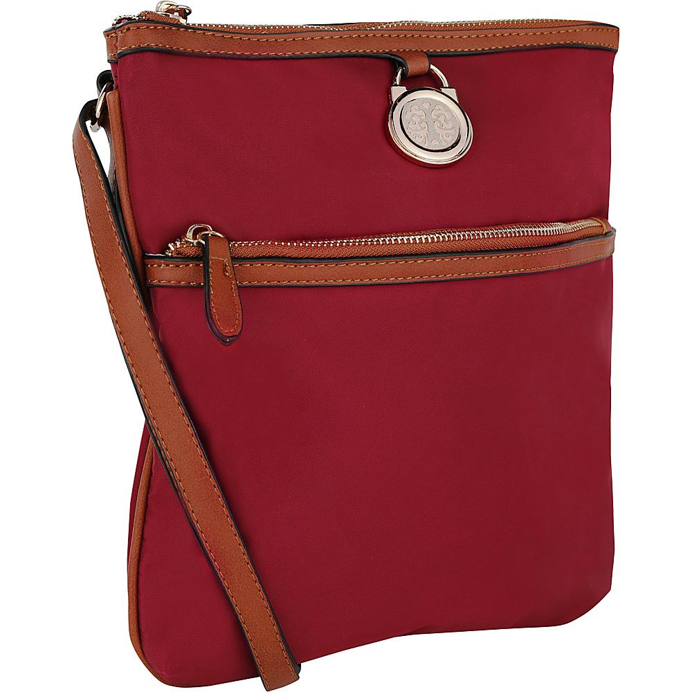 MKF Collection Kempton Crossbody Bag Purple - MKF Collection Fabric Handbags - Handbags, Fabric Handbags