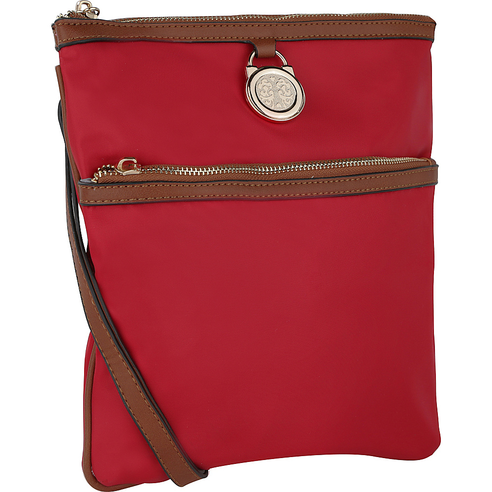 MKF Collection Kempton Crossbody Bag Red - MKF Collection Fabric Handbags - Handbags, Fabric Handbags
