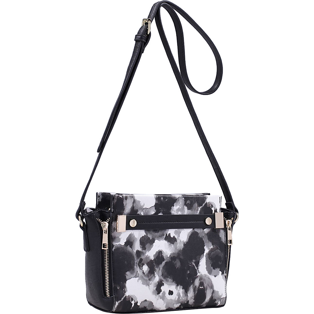MKF Collection by Mia K. Farrow Lizel Floral Crossbody Bag Black - MKF Collection by Mia K. Farrow Manmade Handbags - Handbags, Manmade Handbags