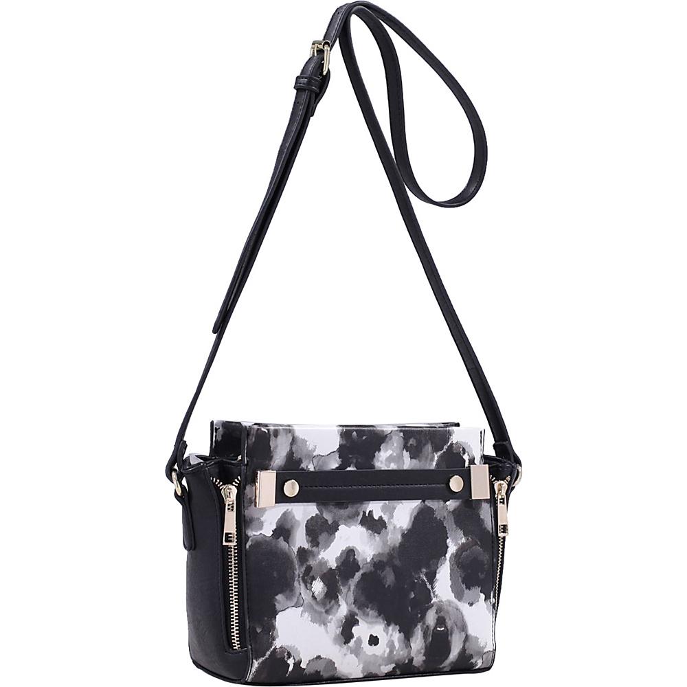 MKF Collection Lizel Floral Crossbody Bag Black - MKF Collection Manmade Handbags - Handbags, Manmade Handbags