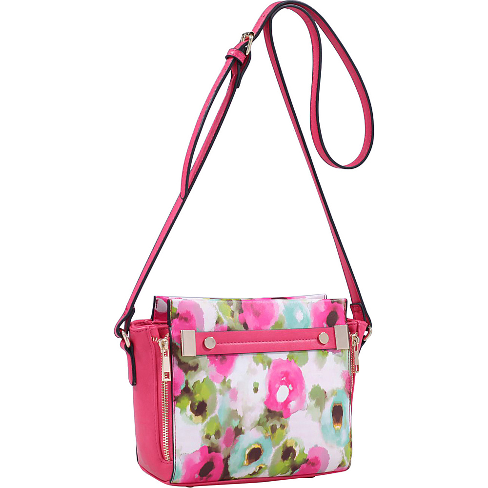 MKF Collection by Mia K. Farrow Lizel Floral Crossbody Bag Fuchsia - MKF Collection by Mia K. Farrow Manmade Handbags - Handbags, Manmade Handbags