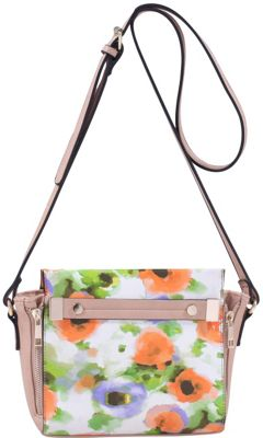 MKF Collection by Mia K. Farrow Lizel Floral Crossbody Bag Orange - MKF Collection by Mia K. Farrow Manmade Handbags