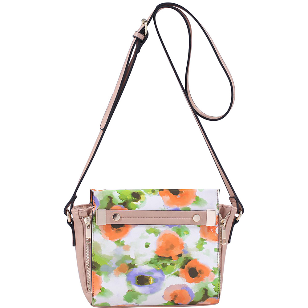 MKF Collection by Mia K. Farrow Lizel Floral Crossbody Bag Orange - MKF Collection by Mia K. Farrow Manmade Handbags - Handbags, Manmade Handbags