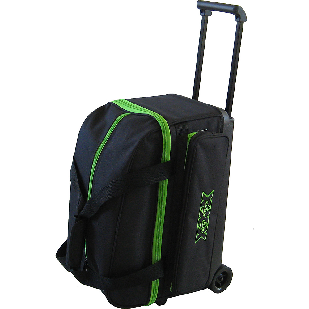 Tenth Frame Classic Double Roller Bowling Ball Bag Lime - Tenth Frame Bowling Bags