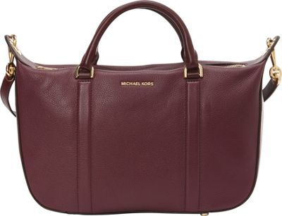 MICHAEL Michael Kors Raven Large Satchel Plum - MICHAEL Michael Kors Designer Handbags
