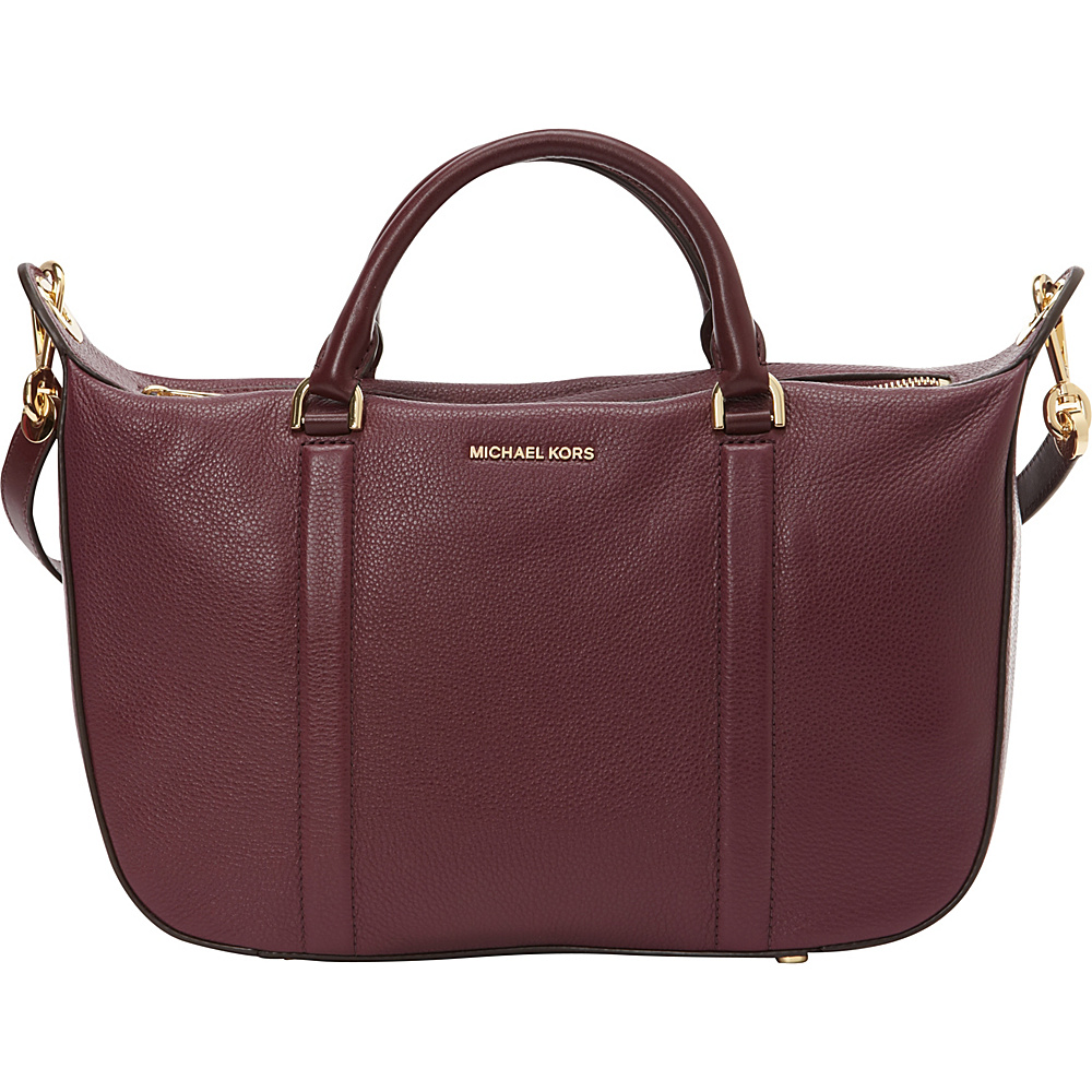 MICHAEL Michael Kors Raven Large Satchel Plum MICHAEL Michael Kors Designer Handbags